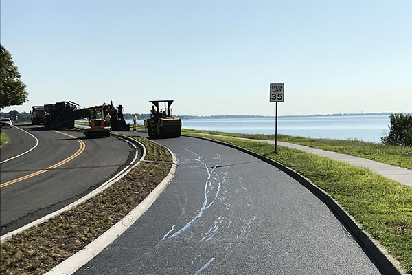 Chesapeake Ave Bike Path Paving Project